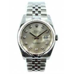 Rolex Datejust Silver/Diamond Jubilee 116234