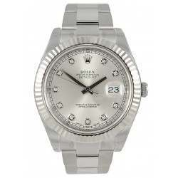 Rolex Datejust Silver/Diamond Oyster 116234