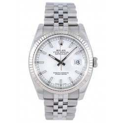 Rolex Datejust White/index Jubilee 116234