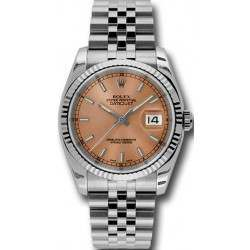 Rolex Datejust Pink/index Jubilee 116234