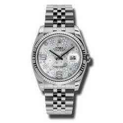 Rolex Datejust Silver Arab Jubilee 116234