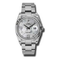 Rolex Datejust Silver Arab Oyster 116234