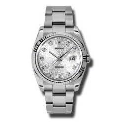 Rolex Datejust Silver Jub/Diamond Oyster 116234