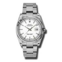 Rolex Datejust White/index Oyster 116234