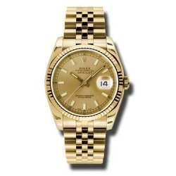 Rolex Datejust 36mm Yellow Gold Champagne/index Jubilee 116238