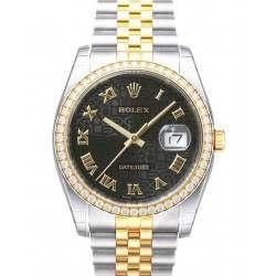 Rolex Datejust Black Jub Roman Jubilee 116243