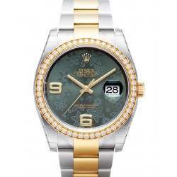 Rolex Datejust Green Arab Oyster 116243