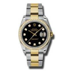 Rolex Datejust Black/Diamond Oyster 116243