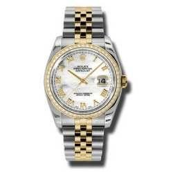 Rolex Datejust White mop Roman Jubilee 116243