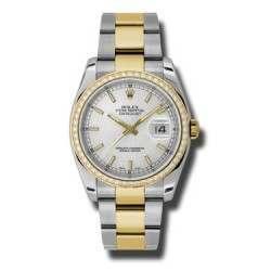 Rolex Datejust Silver/index Oyster 116243