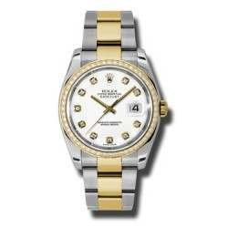 Rolex Datejust White/Diamond Oyster 116243