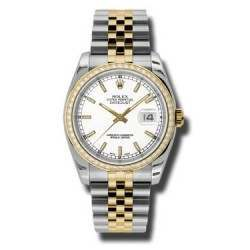 Rolex Datejust White/index Jubilee 116243