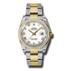 Rolex Datejust White Roman Oyster 116243