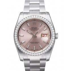 Rolex Datejust Pink/index Oyster 116244