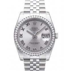 Rolex Datejust Rhodium Roman Jubilee 116244