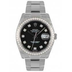 Rolex Datejust Black/Diamond Oyster 116244