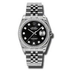 Rolex Datejust Black/Diamond Jubilee 116244
