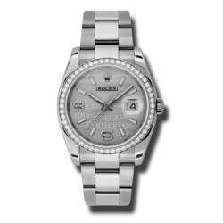 Rolex Datejust Rhodium/Diamond Oyster 116244