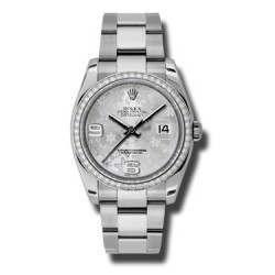 Rolex Datejust Silver Arab Oyster 116244