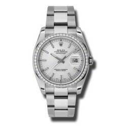 Rolex Datejust Silver/index Oyster 116244