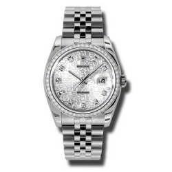 Rolex Datejust Silver Jub/Diamond Jubilee 116244