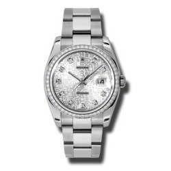 Rolex Datejust Silver Jub/Diamond Oyster 116244