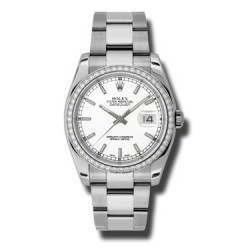 Rolex Datejust White/index Oyster 116244