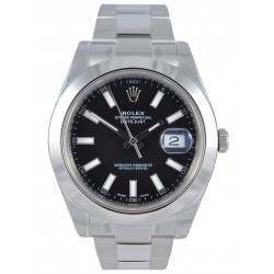 Rolex Datejust II black indexes Oyster bracelet 116300