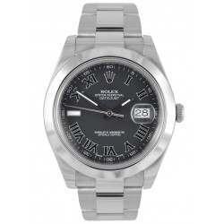 As New Rolex Datejust II Black Roman Oyster 116300