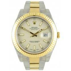 Rolex Datejust II Ivory/index Oyster 116333