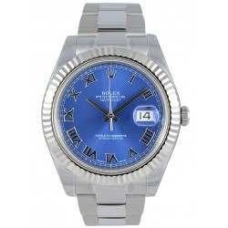 Rolex Datejust II Azzuro Blue Roman Oyster 116334