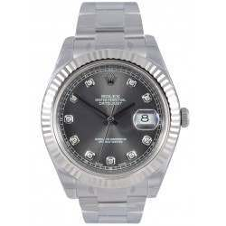 Rolex Datejust II Dark Rhodium/diamond Oyster 116334