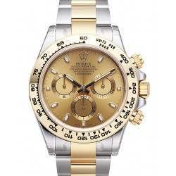 Rolex Cosmograph Daytona Steel & Gold Champagne/index 116503