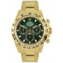 Rolex Cosmograph Daytona Yellow Gold Green/ Index 116508