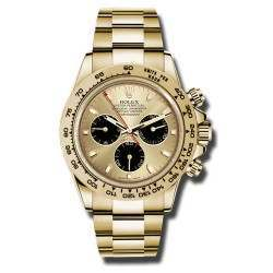 Rolex Cosmograph Daytona champagne/black indexes Oyster 2016 116508