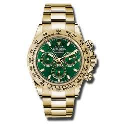 Rolex Cosmograph Daytona Yellow Gold Green/index Basel 2016 116508