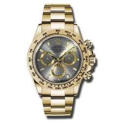 Rolex Cosmograph Daytona Yellow Gold Steel Dial 2016 116508