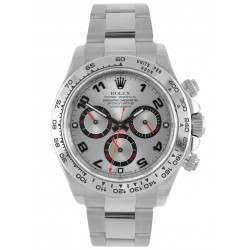 Rolex Cosmograph Daytona 18ct White Gold Silver Arab Dial 116509