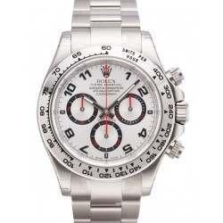 As New Rolex Daytona White Gold Silver Dial- 116509(SA)