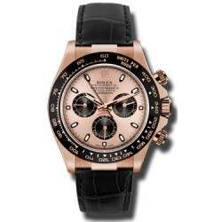 Rolex Cosmograph Daytona Everose Pink Dial Leather 116515LN