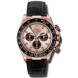 Rolex Cosmograph Daytona Everose Pink Dial Leather 116515LN