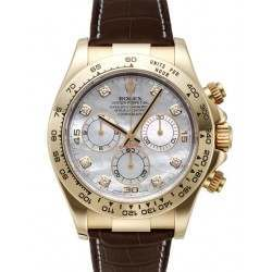 Rolex Cosmograph Daytona White mop/8 Diamond Leather 116518