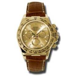 Rolex Cosmograph Daytona Yellow Gold Champagne/index Leather 116518