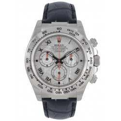 Rolex Cosmograph Daytona White Gold Meteorite Roman Leather 116519