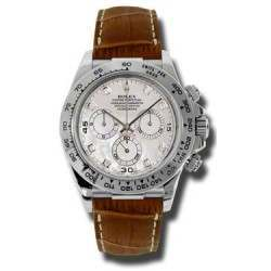 Rolex Cosmograph Daytona White mop/8 Diamond Leather 116519