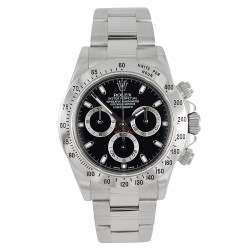 Rolex Cosmograph Daytona Stainless Steel Black/index 116520 Ex Display