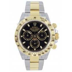 Rolex Cosmograph Daytona Steel & Gold Black/index 116523