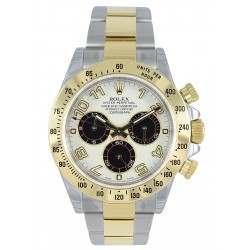 Rolex Cosmograph Daytona Steel & Gold White-Black Arab 116523