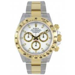 Rolex Cosmograph Daytona Steel & Gold White/index 116523
