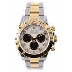 Rolex Daytona - Steel & Gold white dial with black subdials 116523
